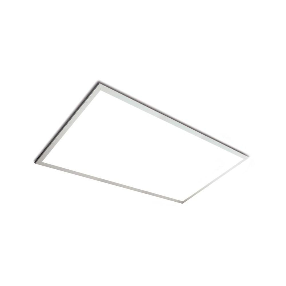 Pannello a LED rettangolare da 60 Watt di dimensioni 60x120cm con bordo bianco