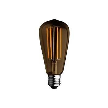 LAMPADINA A BULBO A LED FILAMENTO 6W LUCE CALDA STILE VINTAGE