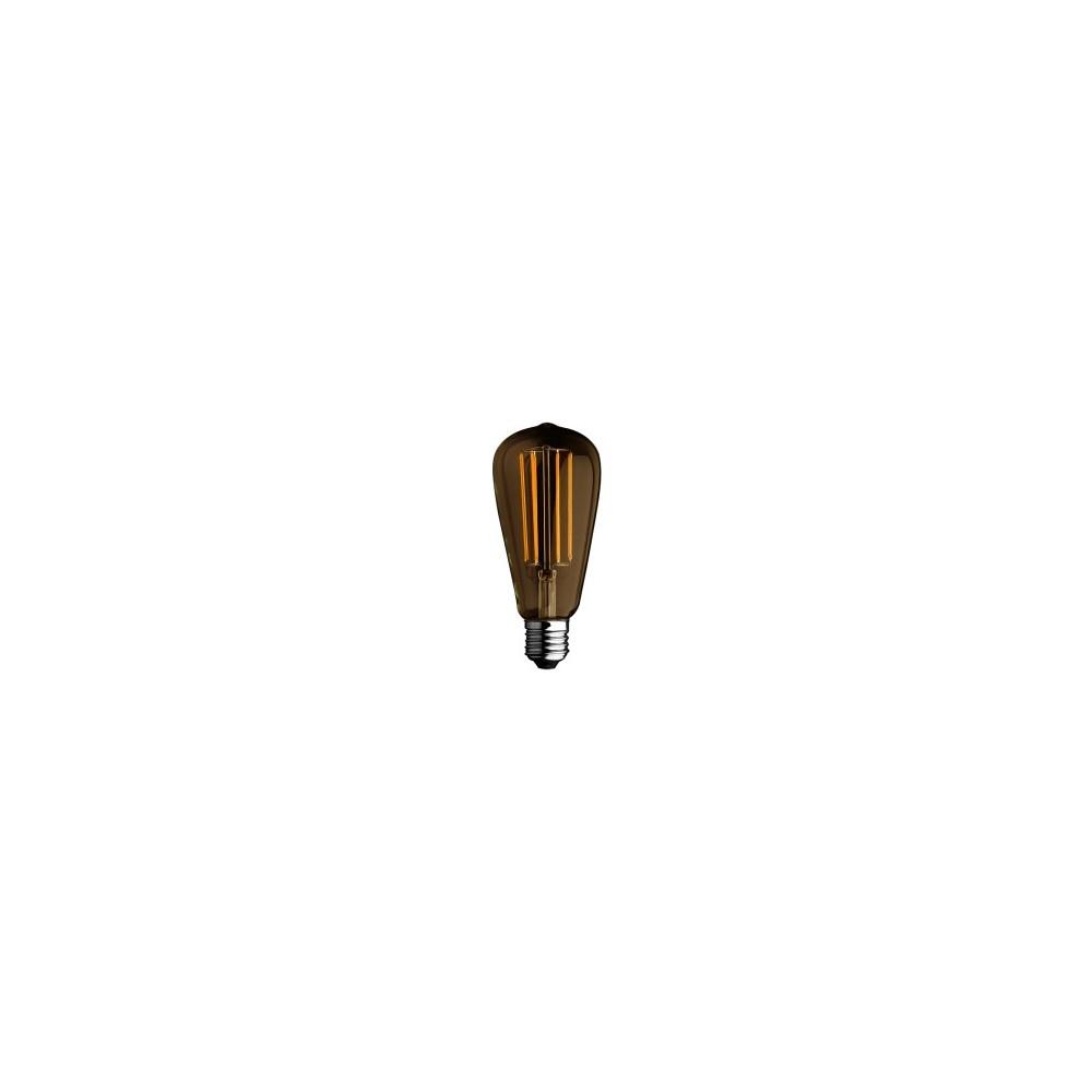 Lampadina a led a bulbo filamento 6w luce calda 2700k for Lampadine faretti led luce calda