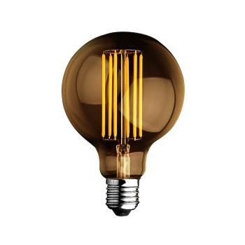 LAMPADINA A GLOBO A LED FILAMENTO 6W LUCE CALDA STILE VINTAGE