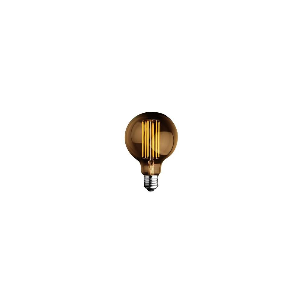 Lampadina a led globo filamento 6w luce calda 2700k for Lampadine al led luce calda