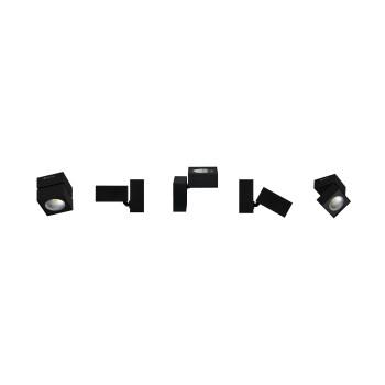 Plafoniera a led quadrata nera da 14w, tricolore. Ideale nelle abitazioni, negli spazi espositivi e nelle vetrine.