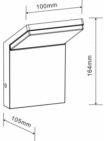 Applique a led da esterno moderna da 9w. Ideale per illuminare marciapiedi, tettoie, garage ed ingressi di casa.