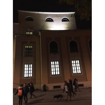 Linear led 50W ideale per illuminare capannoni, officine, facciate di scuole, musei e edifici in genere
