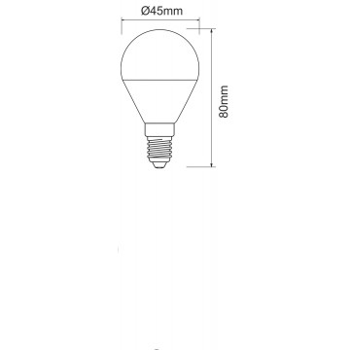Lampadina a led a bulbo piccola 5w attacco E14. Ideale nelle applique, abat-jour o lampadari.