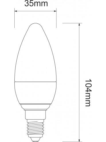 Lampadina a led a oliva opaca 5,5w attacco E14. Ideale nei lampadari, applique, abat-jour e per illuminazioni d'ambiente.
