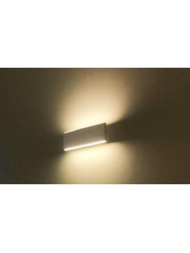 Applique a led bidirezionale 12W ideale da posizionare sui pilastri e le pareti di casa. Luce a led ad effetto sopra e sotto.