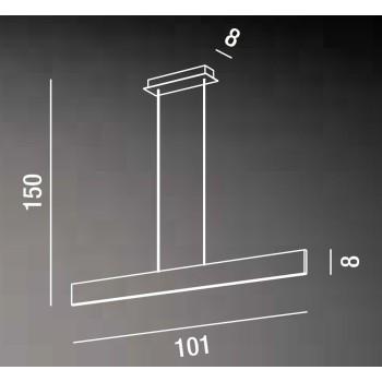 Sospensione a led in metallo verniciato bianco da 23W ideale da cucina, sopra il tavolo o sopra il bancone di un negozio