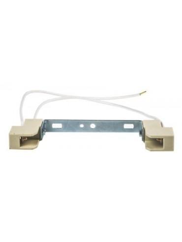 Portalampada in ceramica per lampade a led con attacco r7s da 118mm, il sostituto delle vecchie alogene. Alimentazione a 220v.