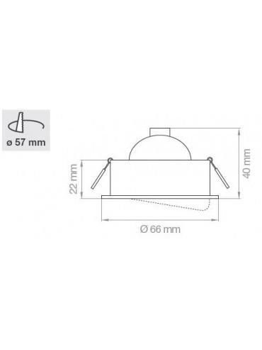 Ghiera in metallo orientabile per faretti a led mr11 con attacco g4. Ghiera piccola, nera o inox.