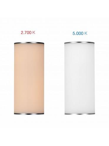 Lampada a led da 2,5w a batteria adatta per essere utilizzata su un tavolo esterno, in un gazebo o una tettoia