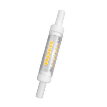 Portalampada in ceramica per lampadine a led con attacco r7s da 78mm, il sostituto delle vecchie alogene. Alimentazione a 220v.