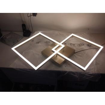 Plafoniera Bard a led moderna 52watt oro opaco 3394-65-225 Fabas. Plafoniera in metallo e diffusore in metacrilato.