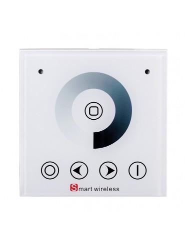 Controller touch da incasso a parete per la regolazione delle strisce a led monocromatiche.