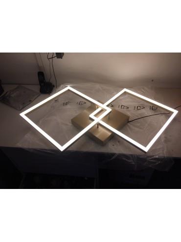 Plafoniera Bard a led moderna 52watt bianco 3394-65-102 Fabas. Plafoniera in metallo e diffusore in metacrilato.