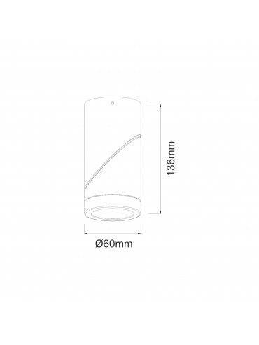 Applique a led tonda bianca da 7w. Ideale nelle abitazioni, negli spazi espositivi e nelle vetrine. Rotabile a 360°.