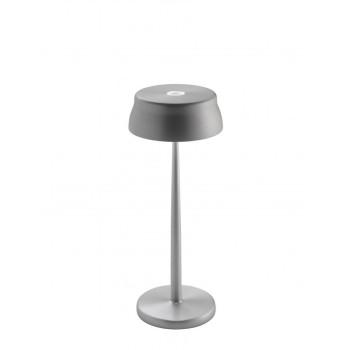 Lampada a led da tavolo Sister Light colore alluminio anodizzato. Ideale per la ristorazione. IP54 da esterno.
