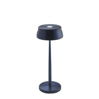 Lampada a led da tavolo Sister Light colore blu anodizzato. Ideale per la ristorazione. IP54 da esterno.