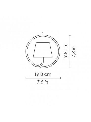 Lampada a led da sospensione Poldina Bianca ricaricabile e dimmerabile con batteria fino a 9 ore. Da esterno IP54.