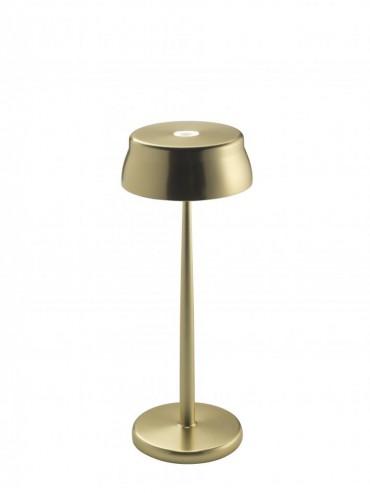 Lampada a led da tavolo Sister Light colore oro anodizzato. Ideale per la ristorazione. IP54 da esterno.