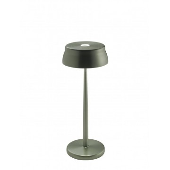 Lampada a led da tavolo Sister Light colore verde anodizzato. Ideale per la ristorazione. IP54 da esterno.