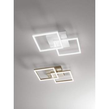 Plafoniera Bard a led moderna 39watt bianco 3394-22-102 Fabas. Plafoniera in metallo bianco e diffusore in metacrilato.