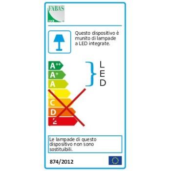 Plafoniera Bard a led moderna 39watt Oro Opaco 3394-61-225 Fabas. Plafoniera in metallo bianco e diffusore in metacrilato.