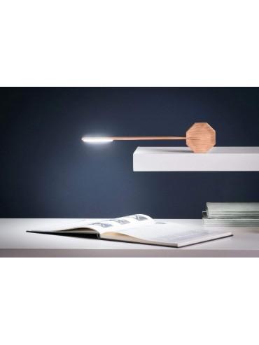 Lampada a led da scrivania Gingko Octagon One Maple accensione touch, lampada di design moderno