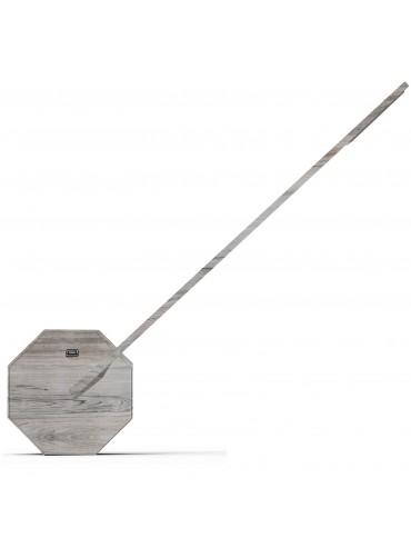 Lampada a led da scrivania Gingko Octagon One Ash Effetto legno accensione touch, lampada di design moderno