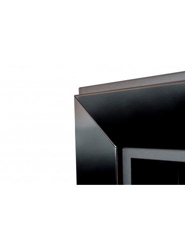 Biocamino da incasso Frame 900 SimpleFire in bioetanolo con un bruciatore da 1 litro. Camino da incasso a parete. Nero