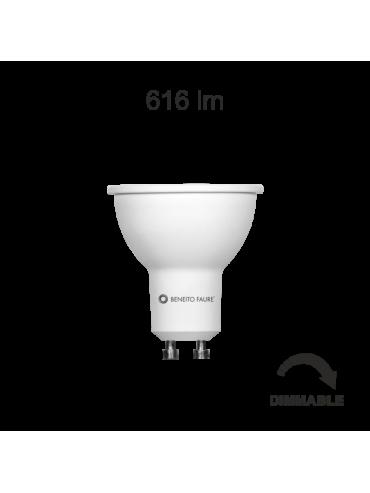Faretto a led da 6w dimmerabile, ideale per le camere da letto, corridoi e negozi, per giochi di luce.