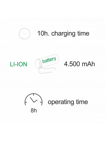 Lanterna a led Visor solare da 3,5w, a batteria. IP54, da esterno. Ideale sui tavoli esterni o nei locali per arredamento.