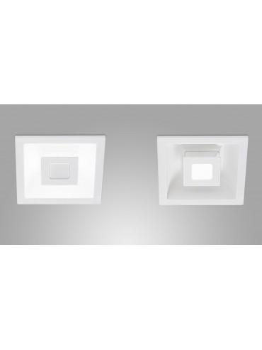 Faretto a led da incasso quadrato a luce diretta e indiretta. 7x3watt, faretto moderno per ambienti residenziali.