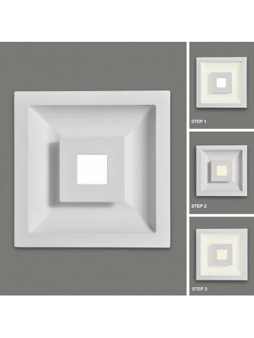 Faretto a led da incasso quadrato a luce diretta e indiretta. 15+7watt, faretto moderno per ambienti residenziali.
