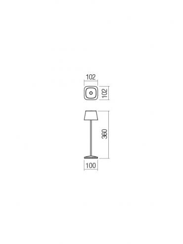 Lampada a led da tavolo La Nuit Blu portatile, ricaricabile e dimmerabile con batteria fino a 9 ore. Da esterno IP65.