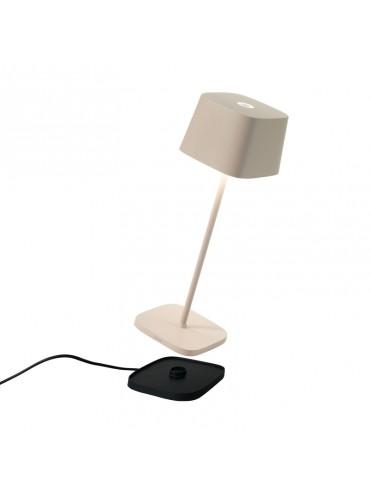 Lampada a led da tavolo Ofelia Pro Sabbia ricaricabile e dimmerabile con batteria fino a 9 ore. Da esterno IP65.