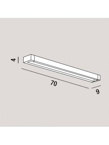 Applique a Led Orientabile Basculante Perenz 23w 2080lm 70cm Nera. Colorazione regolabile con pulsante integrato. Serie Sway.