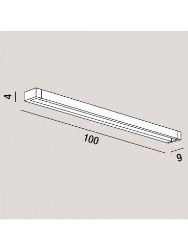 Applique a Led Orientabile Basculante Perenz 35w 3200lm 100cm Bianca. Colorazione regolabile con pulsante integrato. Serie Sway.