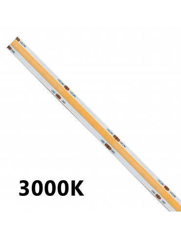 Striscia a led cob monocolore da 15w/m disponibili in tre colorazioni: luce calda, luce naturale e luce fredda